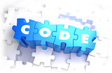 Code - White Word on Blue Puzzles.