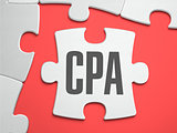 CPA - Puzzle on the Place of Missing Pieces.