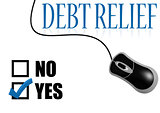 Debt relief check mark