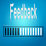 Feedback blue loading bar