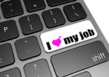 I love my job black keyboard