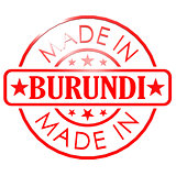 Made in Burundi red seal