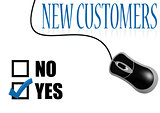 New customers check mark