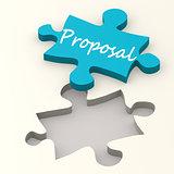 Proposal blue puzzle
