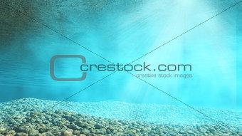 3D underwater background
