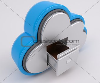 3D Cloud Drive Icon
