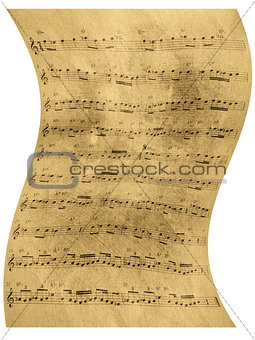 Abstract old sheet music