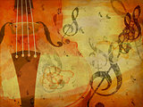 Grunge violin background