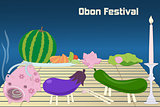 Japanese summer Bon Festival (Obon) background.