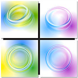 Abstract multicolor round frame