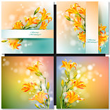 Abstract flowers card