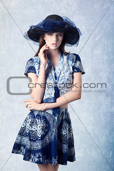 charming girl with lovely hat