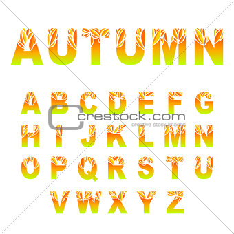 Autumn Leaves Font