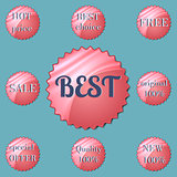 Glossy red round Special Offer stickers.