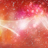 Bokeh in heart form. Abstract background