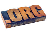 dot org - nonprofit internet domain