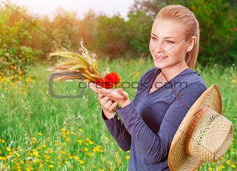 Beautiful farmer girl