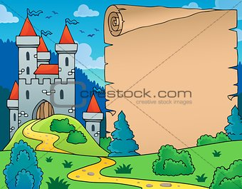 Castle and parchment theme image