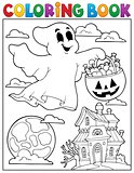 Coloring book ghost theme 5