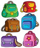 School bags theme set 1