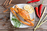 Hot and spicy blue crab