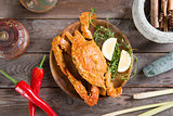 Tasty hot and spicy chili crab
