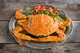 Delicious curry blue crab