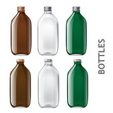 Template of glass bottles