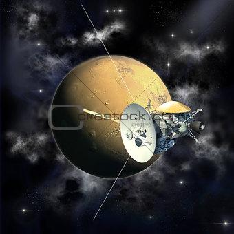 Cassini mission passing Mars