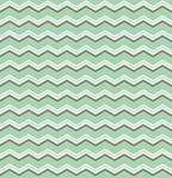 Tile vector pattern with brown and white zig zag print on green background