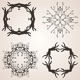 Set of frames from trees and branches