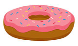 Vector Sweet Pink Donut/Doughnut