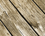 Weathered and worn planks of wood