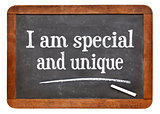 I am special and unique - affirmation