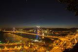 Tsing ma  highway bridge in hong kong