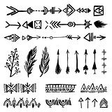 Tribal doodle elements