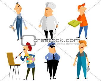 Six profession people