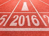 2016 new year perspective and success concept