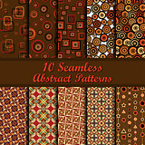 ten geometrical seamless patterns