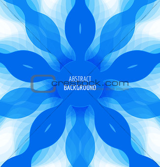 Abstract blue circle background with banner