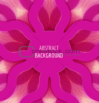 Abstract pink circle waves background with banner