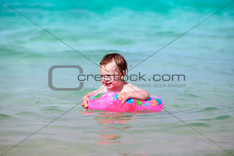 Little girl in the sea