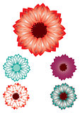 Decorative floral pattern motif