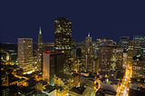 San Francisco Financial District Skyline at Night