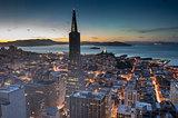 Dusk over San Francisco