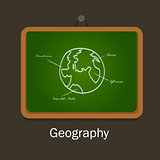 geography school subject study chalk board class earth