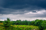 Landscape with dark clouds in Denmark
