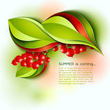 Summer is coming abstract vector background.