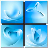 Abstrakt blue background