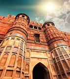 Agra Fort, Agra, Uttar Pradesh, India, Asia